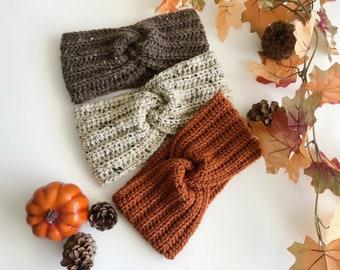 Crochet Twisted Ear warmer, Winter Headband, Turban, Girls, Women, Newborn to Adult Headband, Hair Accessory
