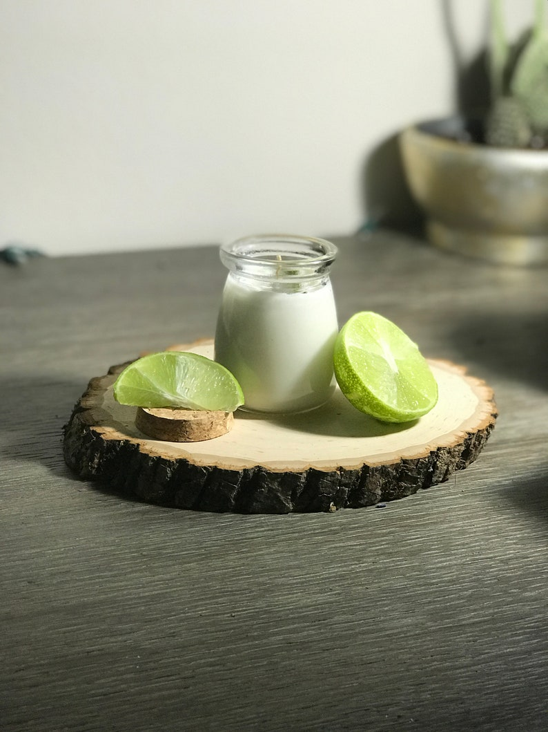 Open Bar  Scented Soy Candle  Handmade Candle  Coconut Lime Glass jar - 3.4