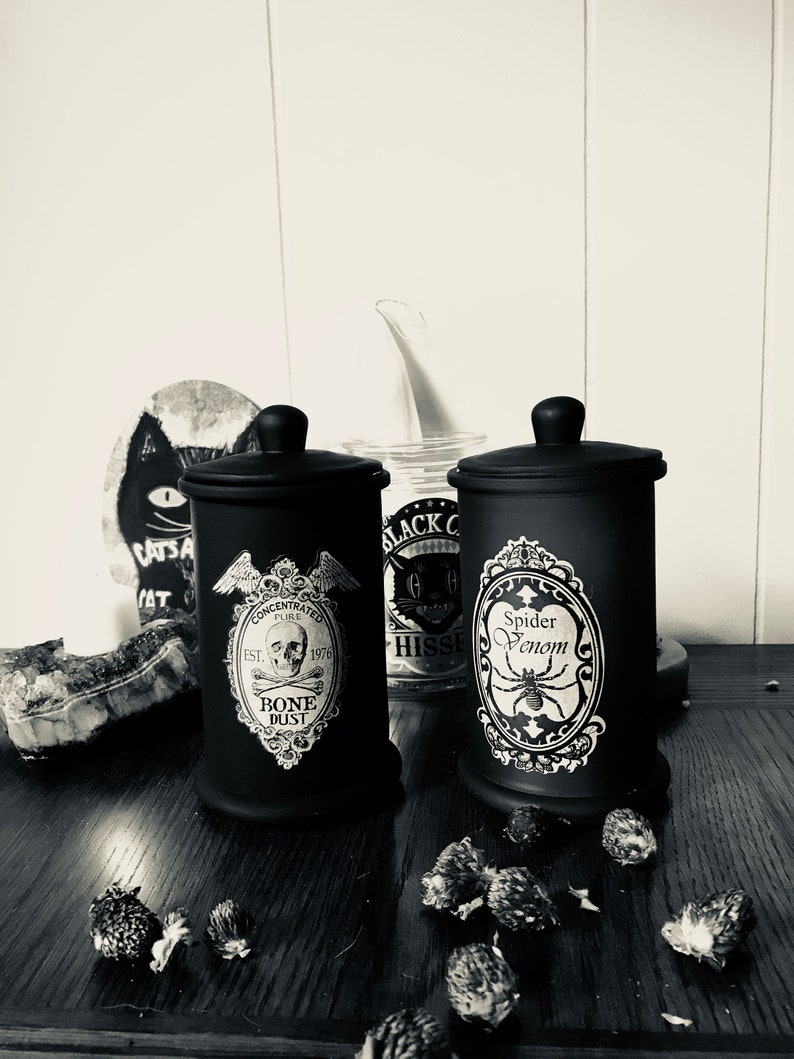 Spooky Container Candles  Halloween/Samhain Candles  Read image 0
