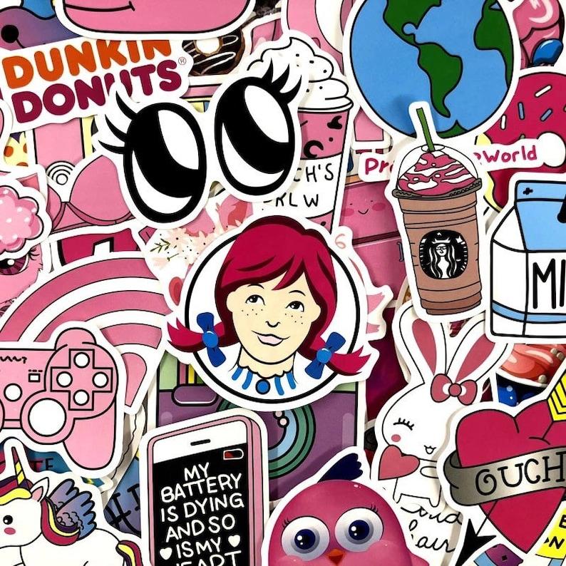 45 Pcs Pink Asthetic Sticker Laptop Stickers Feminist Girl Power Sticker Pack Waterproof Stickers Car Sticker Vinyl Sticker Gift For Her