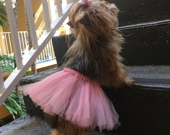 Sweet Dog or Cat TuTu's - Comfy with Elastic Waist, Wear Alone or Pair It Up with a T-Shirt to make a  Cute Dress- 4 colors  in Sm. Med. LG