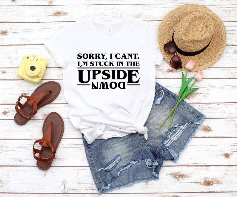 Women/'s T-Shirts Stranger Things Tops Stranger Things Upside Down T-Shirts Stranger Things Shirts