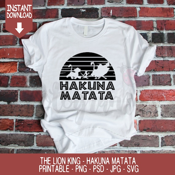 The Lion King Inspired Hakuna Matata Svg Simba Timon And Etsy