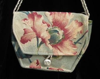 8c93c1b2d1 Antique Floral Fabric Crossbody Bag