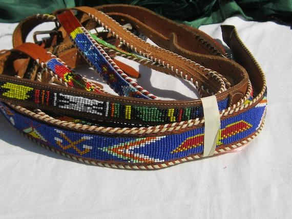 Vintage Beaded Belt Lot, Craft Lot , Reuse, Repurp