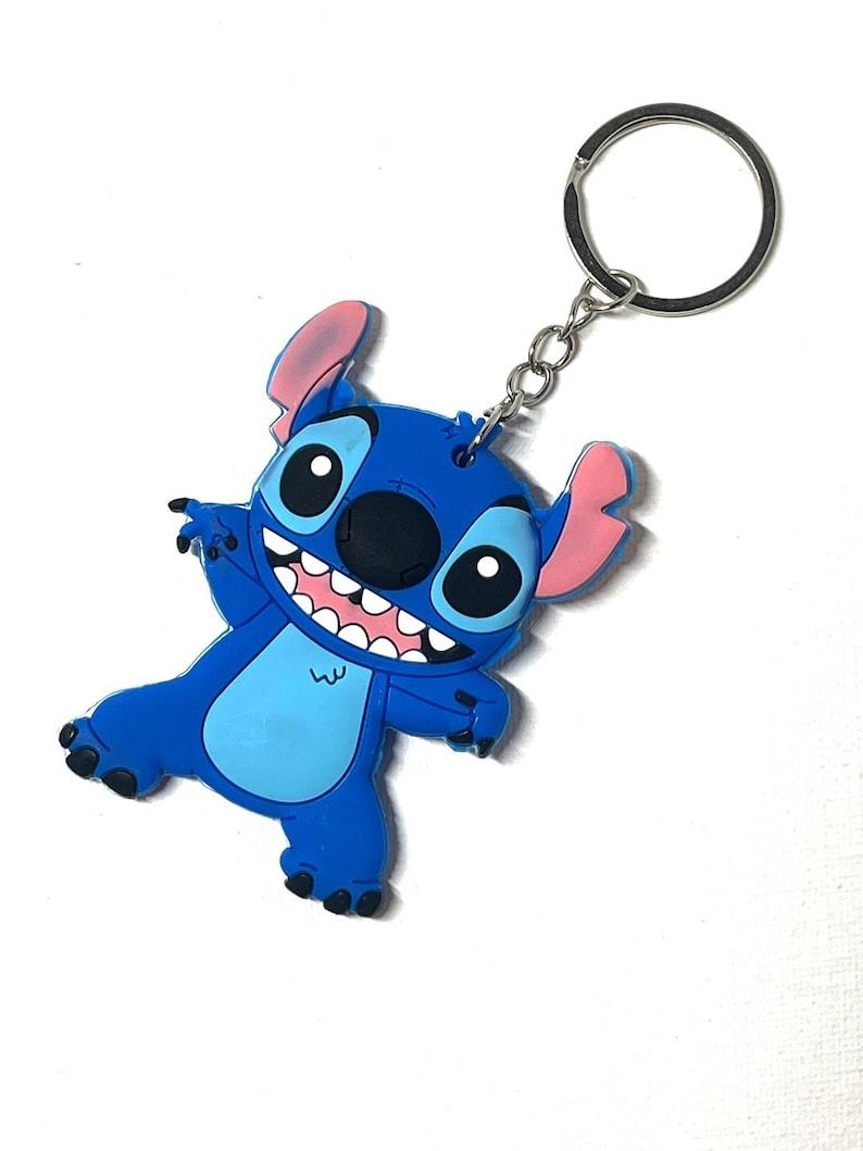 Stitch 3D Key Chain Handbag Tag Charm 3D Cartoon rubber key chain| Bag Tag PVC key chain