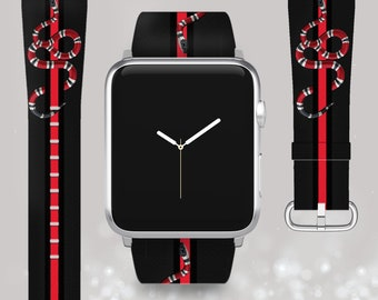 ce20d716a8a Inspired by Gucci Apple Watch band Gucci strap Apple Watch 4 Gucci iWatch  band 44 Apple Watch 40 iWatch 38 42 Leather band 1 2 3 4 series gg