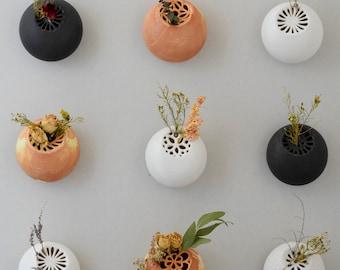 Porcelain Wall Vase // Wall Stones // Flower Pocket