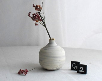 Swirly Bud Vases with Gold / Ceramic Bud Vases / GROUP 6 (Seconds) / Variants A2 - H2