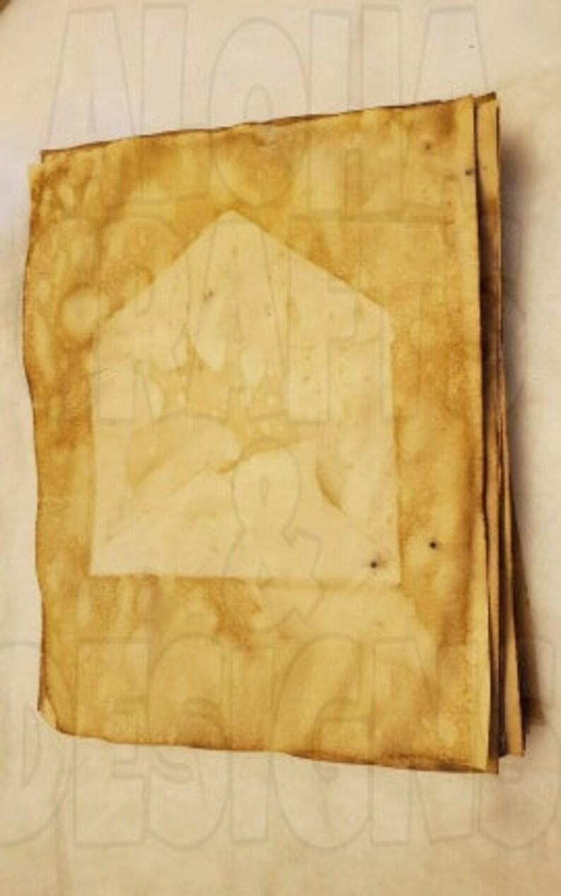 Plain COFFEE Dyed Paper Lot of 35 Plain Design 24lb plain paper