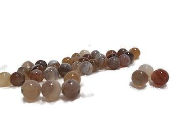 Tortoise Shell Colour Beads 6mm Czech Faceted Beads Tiger Striped Beads Matt Finish Beads Packs  Of 100