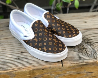 564fd925ec50 LV Vans Slip On Custom Shoes Designer Vans