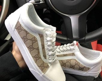 Gucci Vans Custom Old Skool Vans Gucci Customs Men s Women s Vans Shoes 58fbe9197