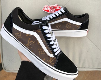 LV Vans Old Skool Custom Shoes Designer Vans 785bc7c5e