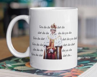 Hamilton King George mug Da Da Da Dat Da King George Hamilton Funny Gift For Alexander Hamilton Fans Mugs Gifts men women, Hamilton Merch