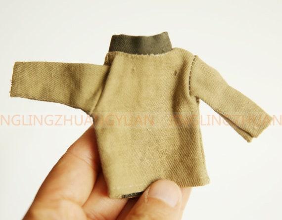 Fashion Dollhouse Handmade Jacket Coat Khaki 1:12 Scale Doll House Miniature