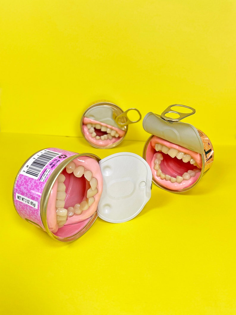Can of Teeth  CAN IT  contained laughter hilarious mouth image 0