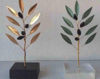Olive branch, Art Deco, unique gift, Home Decor, Decoration Gift, Olive Tree Sculpture, Sculpture Art, Olive Decor, Greek decoration