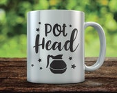 Pot Head Svg File, Coffee Lover Pot Head Coffee Pot Java But First Coffee Quote Coffee Bar Svg, Cricut Explore And More VSQU