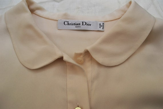 2000 - Christian DIOR blouse in ivory silk satin … - image 9