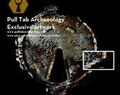 Original Pull Tab Archaeology Artwork - high quality dibond aluminium print