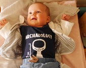 Pull Tab Archaeology Bodysuit / Romper (young child's one-piece outer garment)