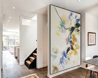 Extra Large Landscape Wall Art. Textured Abstract Painting. Modern abstract oil painting. White Painting. Large Wall Art Home Decor SN23