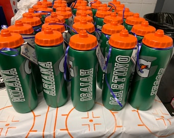 customized gatorade type sports bottle labels  (name sticker only) for favors, fit any size bottle you have