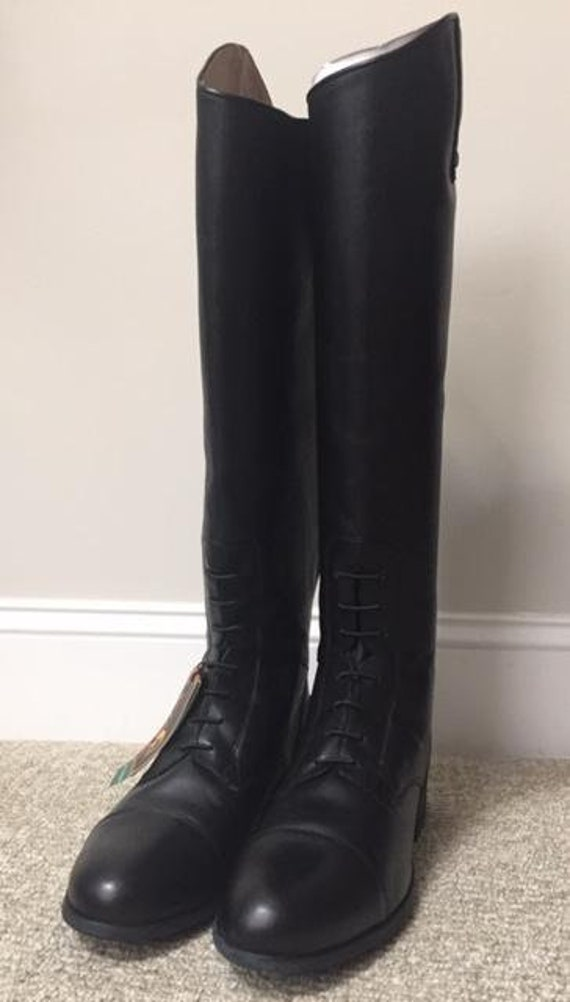 ARIAT 55701 Heritage Contour Crowne Leather BOOT Black  UK 6.5//EU 40   157 W