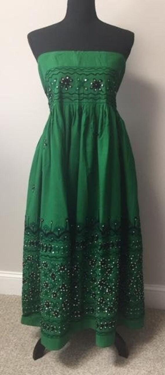 Vintage Indian Lehenga-Ethnic Long Skirt-Dress-Emb