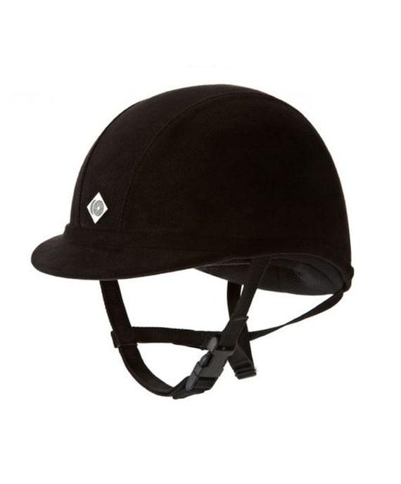 Vintage 90s Velvet Equestrian Helmet Lexington Safety LS410 Size 7 Horse Riding Hat NEW Black Adjustable Head Protection Gear Kids Sports