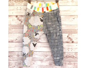 Sheep leggings, baby leggings, cotton pants, winter clothes, toddler clothes, shower gift, baby pants, colorful baby clothes, cozy pants
