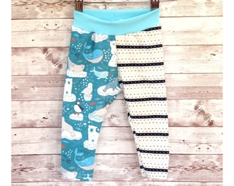 Arctic Animal Leggings, Baby Leggings Gender Neutral Winter Baby Pants, Colorful Baby Clothes, Newborn Baby Gift, Baby Shower Gift