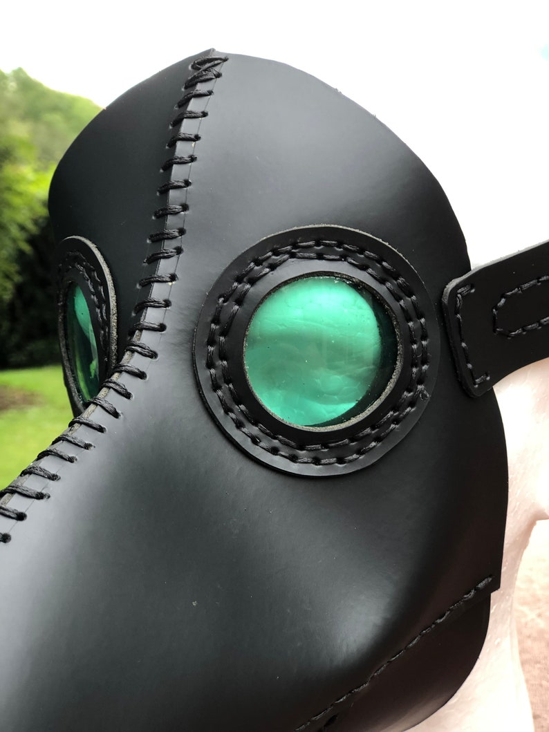 Plague Doctor Face mask Halloween Steampunk Mask Plague Doctor Mask Cosplay Real Leather Steampunk Leather Mask