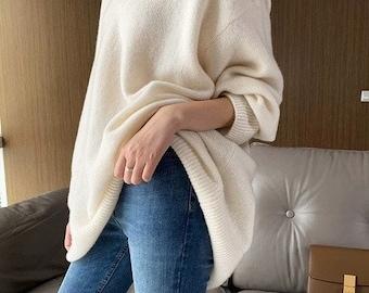 Cashmere Loose Fit V-Neck Sweater