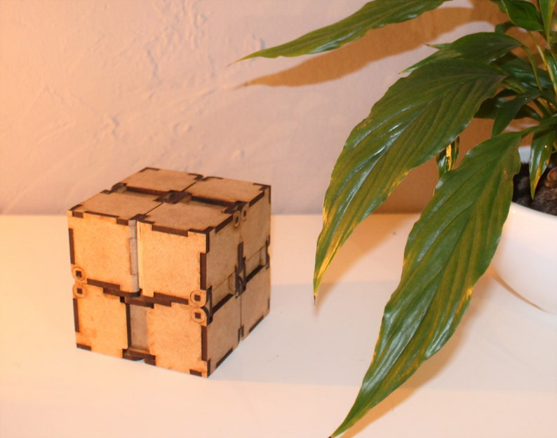Infinite Cube 3mm DFX File for laser Real working all wood Kit DIY  buildingkit Vector project for lasercutter