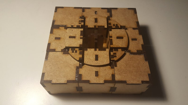 Rubik/'s Cube 3mm Real working DFX File for laser all wood Kit DIY buildingkit Vector project for lasercutter