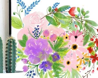 Small Watercolor Flower Bundle, Watercolor Flowers PNG, Watercolor Bundle, Digital Flowers Bundle, Floral Bundle, Watercolor Flowers Clipart