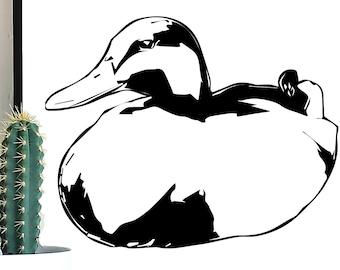 Sitting Duck Vector Art SVG, Duck Vector, Duck PNG, Duck svg, Duck DXF, Animal Cut File, Duck Print, Duck Art, Bird svg, Bird Cut File