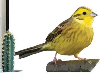 Yellowhammer Bird SVG, Yellowhammer, Yellowhammer Clipart, Bird Vector PNG, Bird Art, Bird SVG, Bird Art Print, Bird Clipart, Bird png