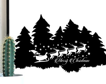 Merry Christmas Santa SVG, Merry Christmas SVG, Christmas Trees, Christmas Cut File, Christmas SVG files, Merry Christmas Clipart, Santa svg