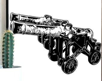 Vintage Medieval Cannon SVG, Cannon svg, Vintage Guns, Medieval SVG, Medieval Art, Vintage Cannon, Artillery SVG, Castle svg, Gun Cut File