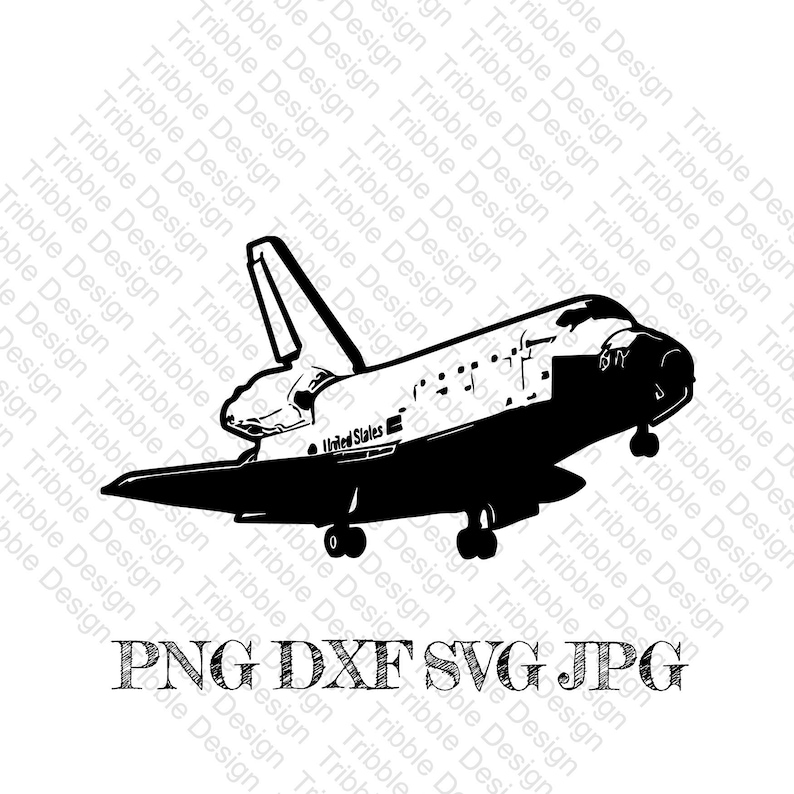Space Shuttle SVGDXFPNGcut filespace shuttleshuttle image 0