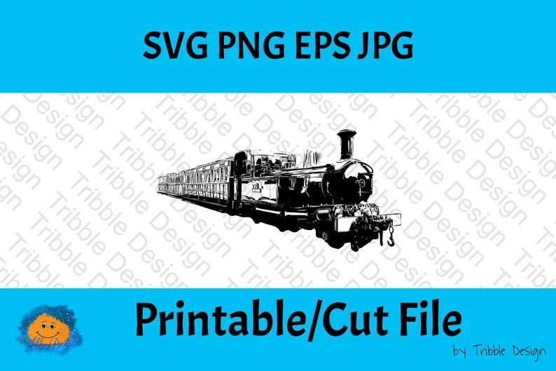 Steam Locomotive Digital Download Clipart Digital Art Printable Art Decal Sublimation PNG Vinyl Cut Files Steam Train SVG