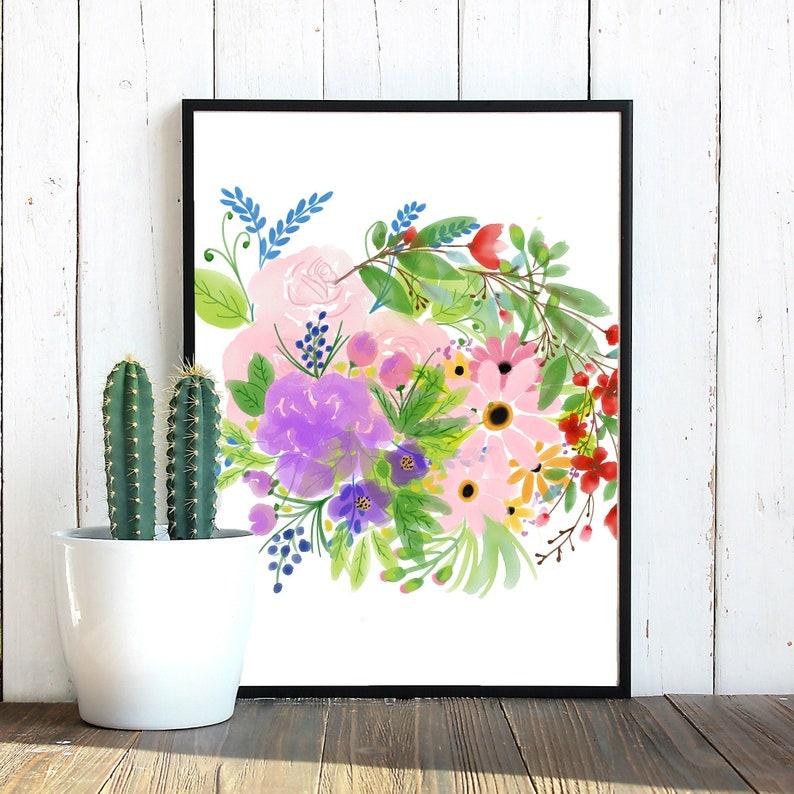 Small Watercolor Flower Bundle Watercolor Flowers PNG image 0