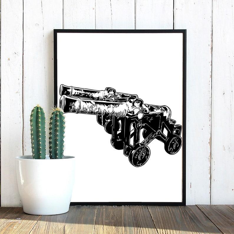 Vintage Medieval Cannon SVG Cannon svg Vintage Guns image 0