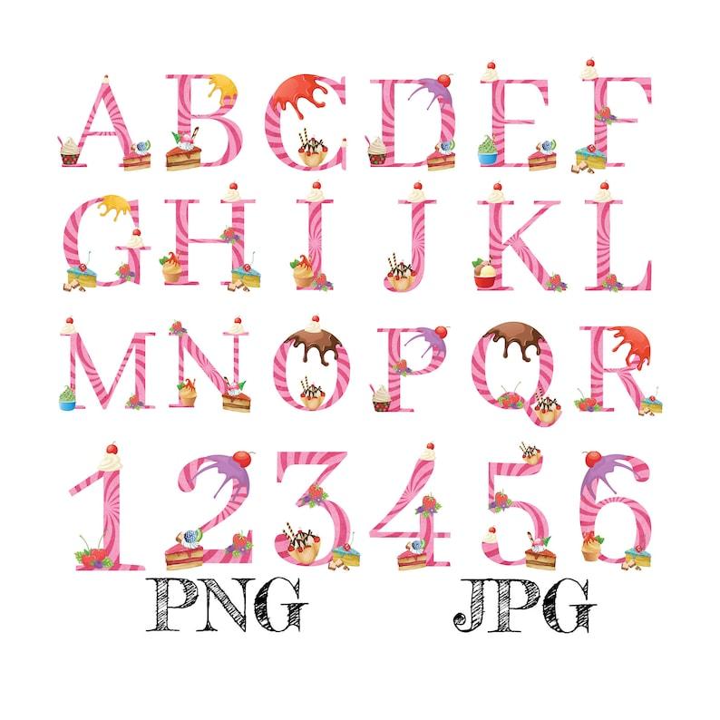 Summer Alphabet Monogram Letters Numbers Clipart Logo Design image 0