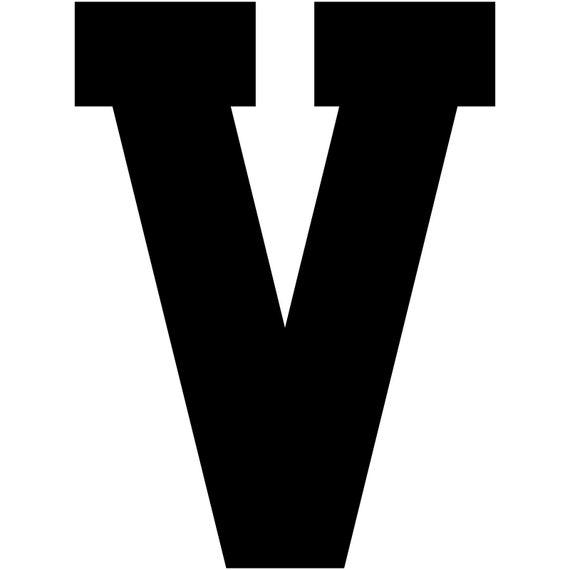 Varsity Letter Q Decal Sticker Vinyl Window Laptop College Athletic Team Sports