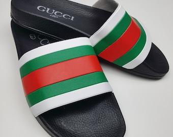 e84b72ddbb6 Gucci inspired slide sandal
