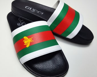 8d35e3a68347 Gucci inspired slide sandal